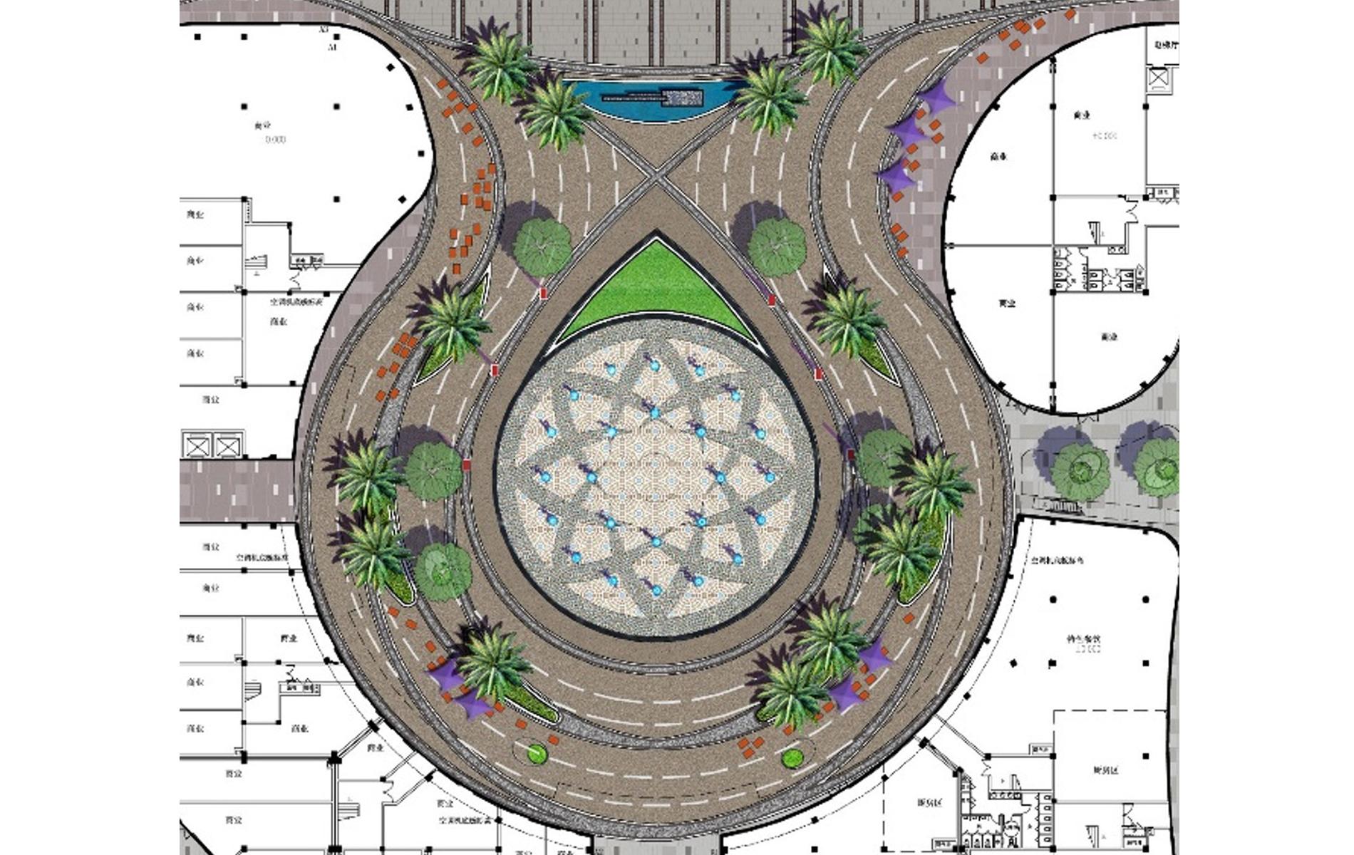 enlarge plan of central plaza中心广场放大图